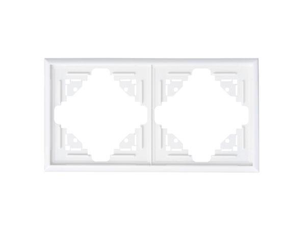 Abdeckrahmen 2-fach arktis-weiß Serie Malta - Kopp (309213066)