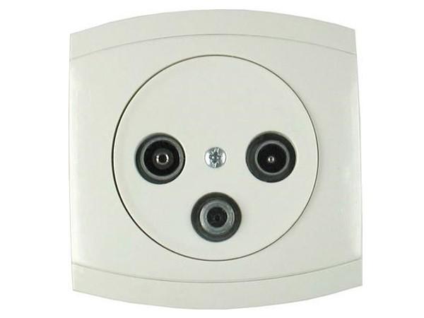 Antennen-Steckdose 3 Ausgänge Serie Modena weiß - REV-Ritter (00852204)