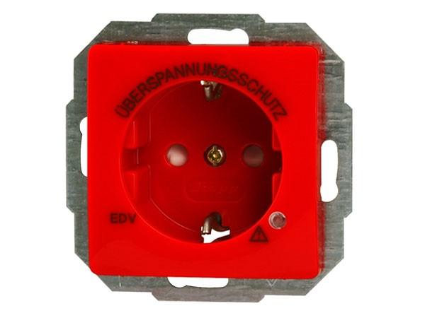 Schutzkontakt-Steckdose mit Überspannungsschutz und erhöhtem Berührungsschutz Serie Paris / Objekt H