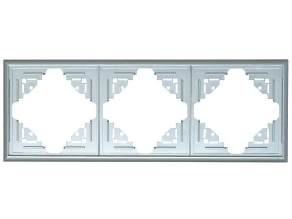 Abdeckrahmen 3-fach silber Serie Malta - Kopp (309320087)