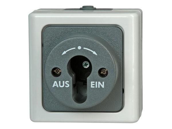 Aufputz-Feuchtraum - Schlüsselschalter / Serie Blue Electric - Kopp (561756017)