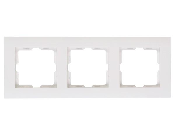 Abdeckrahmen 3-fach rein-weiß Serie Athenis - Kopp (402729060)