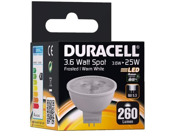 Duracell® LED S17 (GU5.3, 260 Lumen, 3.6 Watt, Spot, warm weiß)