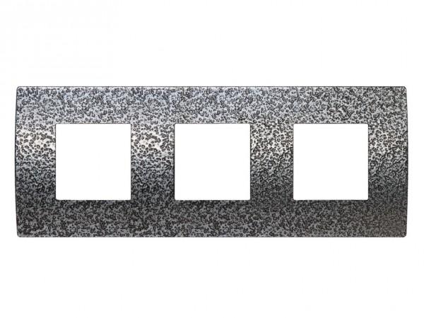 TEM Serie Modul Plus PURE Abdeckrahmen 3x2M geschmiedeter Stahl (OP26MH-U)