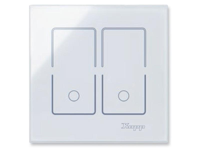 HK i8 Glas-Sensor-Doppelschalter Kopp, eckig (852002010) | home4u ...