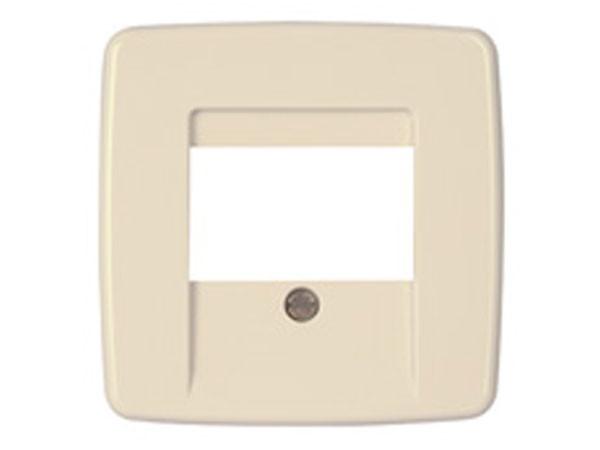Abdeckung für TAE-Telefon-Anschlussdose Serie Rivo creme-weiß Kopp (339701180)