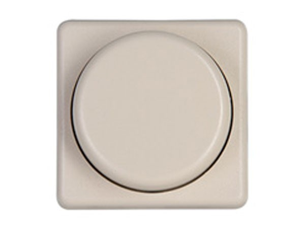 Dimmerabdeckung für Dimmer mit Wippen-Wechselschalter Serie Europa creme-weiß Kopp (319901182)
