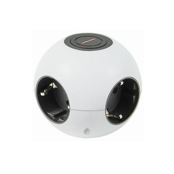 REV Ritter Kugelsteckdose Powerglobe mit Schalter, weiß (0015420103)