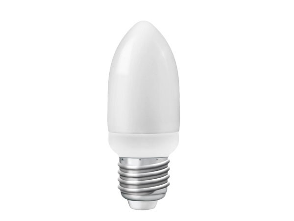 Energiesparlampe Micro Kerze E27 7W 2700K A 10K (LR-MC2707C)