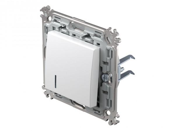 TEM Serie Modul Plus Taster Kontroll (A/W) beleuchtet polar weiß (CS61PWXOIN-D)