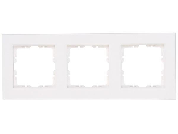 Abdeckrahmen 3-fach Objekt HK 07 rein-weiß Kopp (402729008)