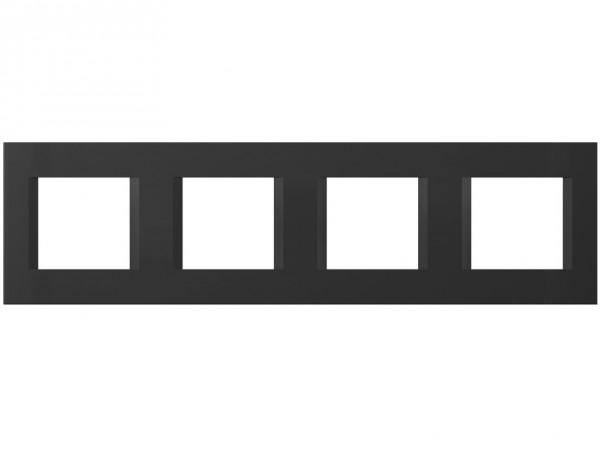 TEM Serie Modul Plus LINE Abdeckrahmen 4x2M schwarz matt (OL28SB-U)