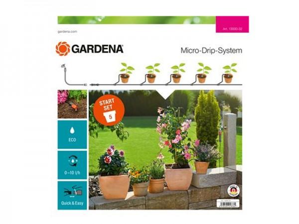 Gardena Micro-Drip-System Start-Set Pflanzentöpfe S (13000)