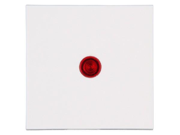 Flächenwippe mit Linse in rot Objekt HK 07 rein-weiß Kopp (490072006)