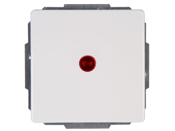Kontrollschalter (A/W-Schalter) beleuchtet rein-weiß Serie Venedig - Kopp (601692088)