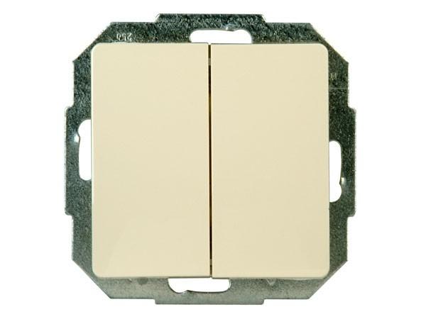 Wechsel-/Wechselschalter Serie Paris creme-weiß - Kopp (650301089)