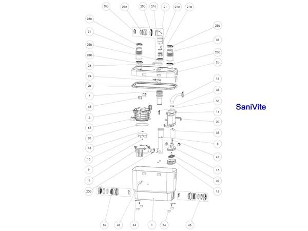 Sanibroy SFA  Balgenmuffe 46/40 (Art: XR2310, Pos. 31)