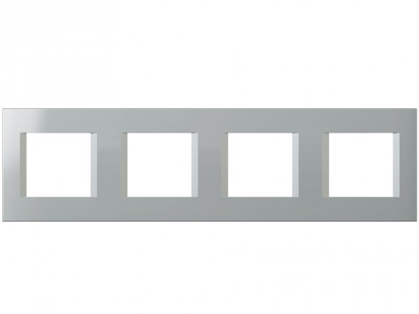 TEM Serie Modul Plus LINE Abdeckrahmen 4x2M silber (OL28ES-U)