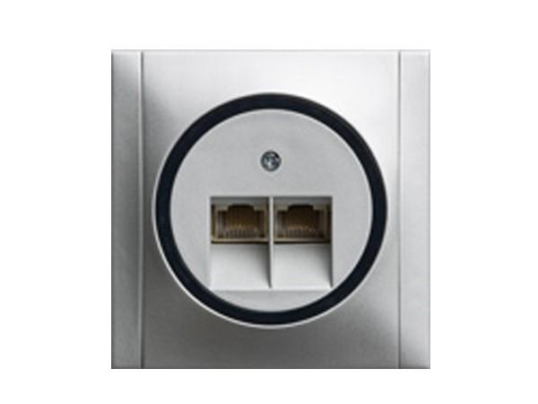 ISDN-Dose titan/grau Serie Ascoli - REV-Ritter (00928208)