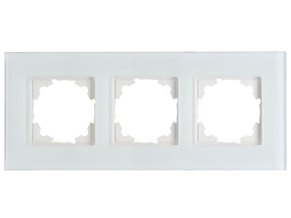 Glas-Abdeckrahmen 3-fach Objekt HK 07 Kopp (405508000)