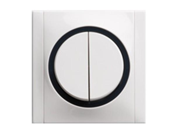 Serienschalter weiß/grau Serie Ascoli - REV-Ritter (00925104)