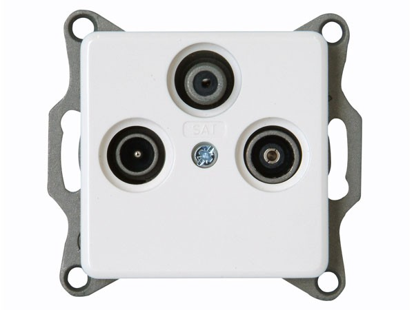 Antennensteckdose TV/RF/SAT weiß / Serie Milano - Kopp (917113080)
