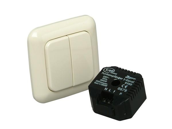 Free control Funk-Set für Rolladen- und Serienschalter (Standard)  mit 2/4 Funktionen (8224.1302.6)