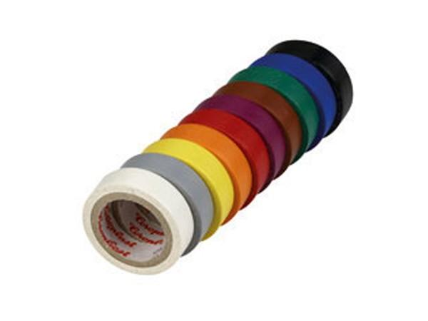 Düwi Kunststoff-Isolierband 12mm, farbig sortiert (182405)