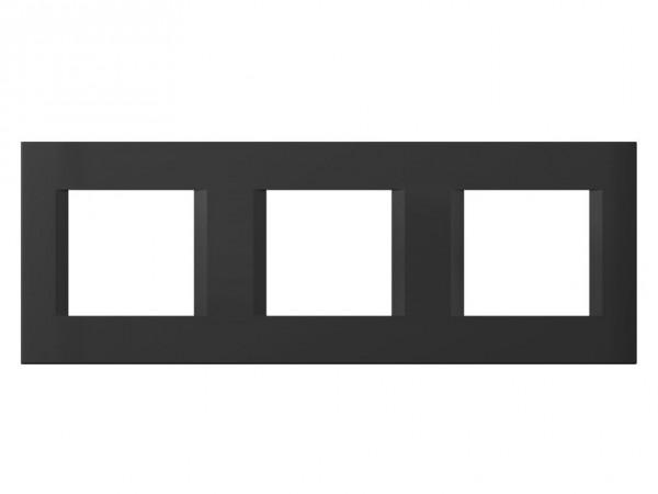 TEM Serie Modul Plus LINE Abdeckrahmen 3x2M schwarz matt (OL26SB-U)