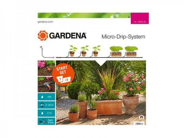 Gardena Micro-Drip-System Start-Set Pflanzentöpfe M (13001)