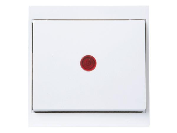 Kontrollschalter (A/W) beleuchtet arktis-weiß Serie Malta - Kopp (621666085)