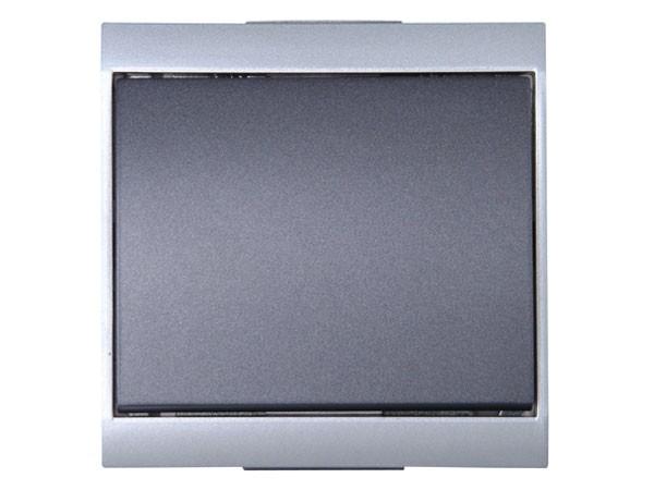 Universalschalter (Aus- und Wechselschalter) silber-anthrazit Serie Malta - Kopp (620615088)