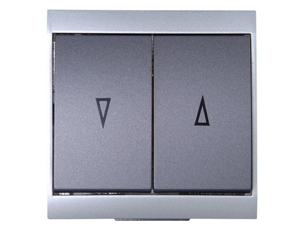 Jalousieschalter silber-anthrazit Serie Malta - Kopp (621515086)