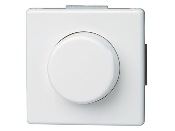 Dimmer mit Wippen-Wechselschalter (Phasenanschnitt) Serie Vision arktis-weiß Kopp (805202076)