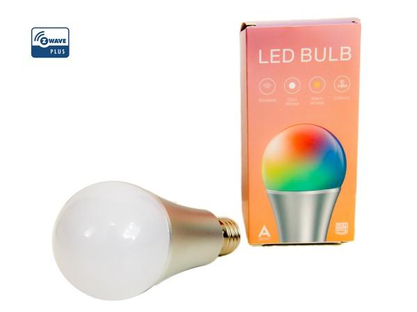 Z-Wave LED RGB Glühbirne E27 (AEOEZW098)