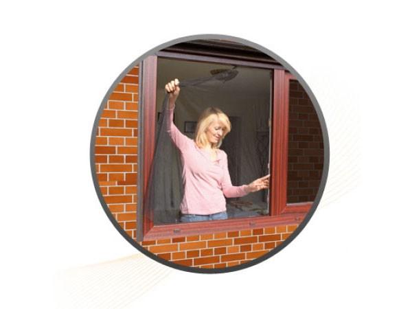 Jarolift Fliegengitter für Fenster 130 x 150 cm weiß