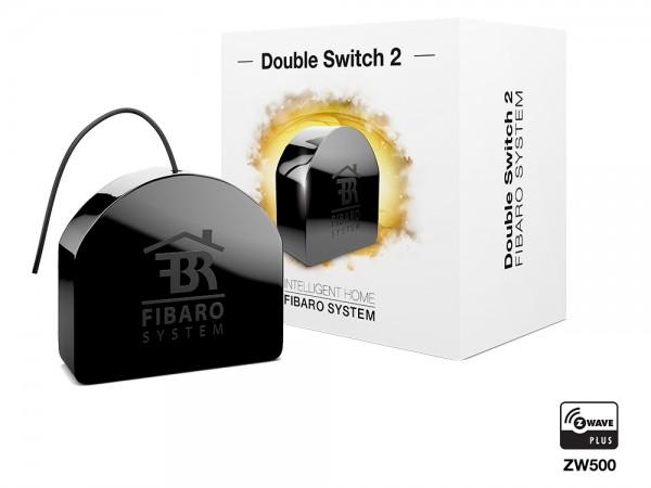 FIBARO Relais Switch Unterputzeinsatz 2 Schalter a 1,5 kW Gen 5