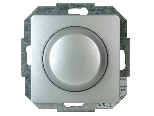 Elektronischer Dimmer mit Wippen-Wechselschalter Serie Paris silber - Kopp (803520082)