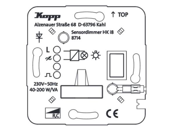 HK i8 UP-Leistungsteil Dimmer für elektronische Trafos Phasenabschnitt - Kopp (871400010)