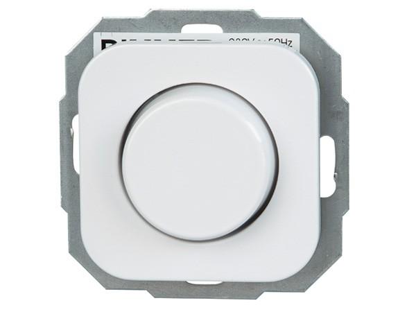 Dimmer mit Dreh-Ausschalter (Phasenanschnitt) Serie Donau arktis-weiß - Kopp (804802004)