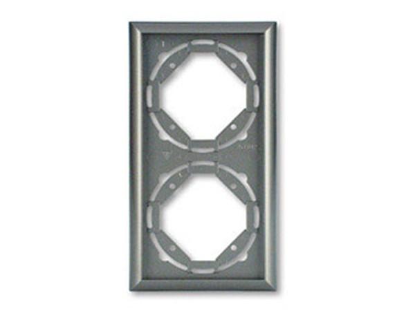 REV Ritter Düwi TerraLuxe 2-fach Rahmen, titan (01276)