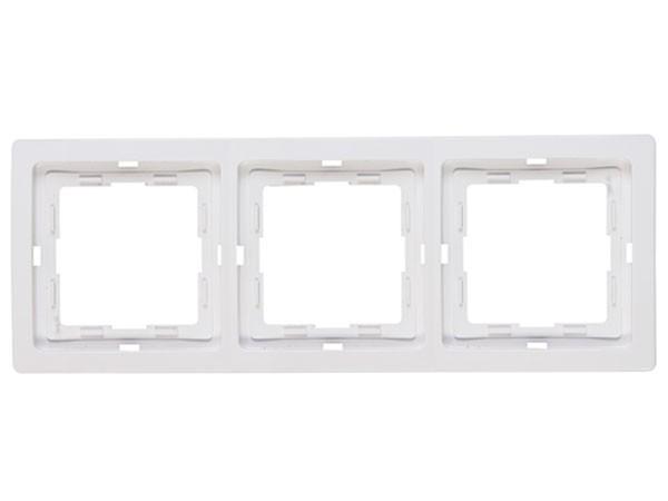Abdeckrahmen 3-fach rein-weiß Serie Venedig - Kopp (400329066)