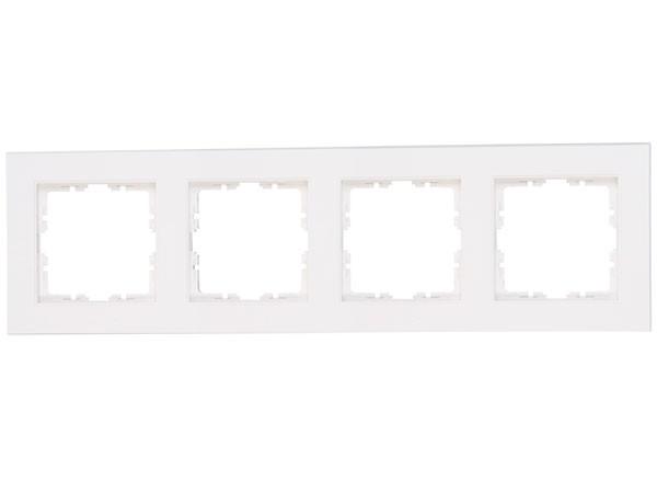 Abdeckrahmen 4-fach Objekt HK 07 rein-weiß Kopp (402829001)