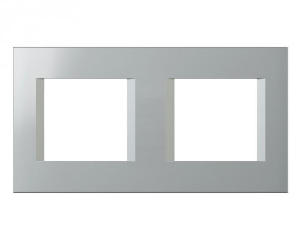 TEM Serie Modul Plus LINE Abdeckrahmen 2x2M silber (OL24ES-U)