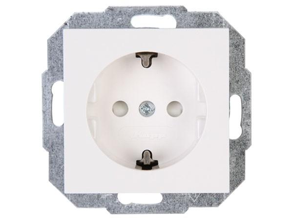 Schutzkontakt-Steckdose mit erhöhtem Berührungsschutz (Kinderschutz) Objekt HK 07 rein-weiß Kopp