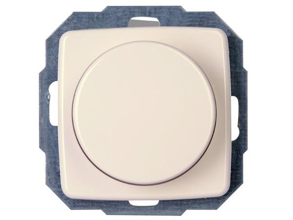 Druck-Wechsel-Dimmer (Phasenabschnitt) Serie Rivo rein-weiß - Kopp (841017083)
