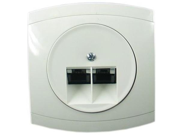 ISDN- /IAE-Telefon Anschlussdose TAE Serie Modena weiß - REV-Ritter (00858204)