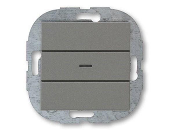 REV Ritter Düwi ArchiTaste Kontroll-Wechselschalter mit Glimmlampe, graphit (44192)