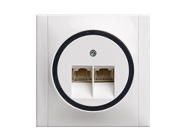 ISDN-Dose weiß/grau Serie Ascoli - REV-Ritter (00928204)