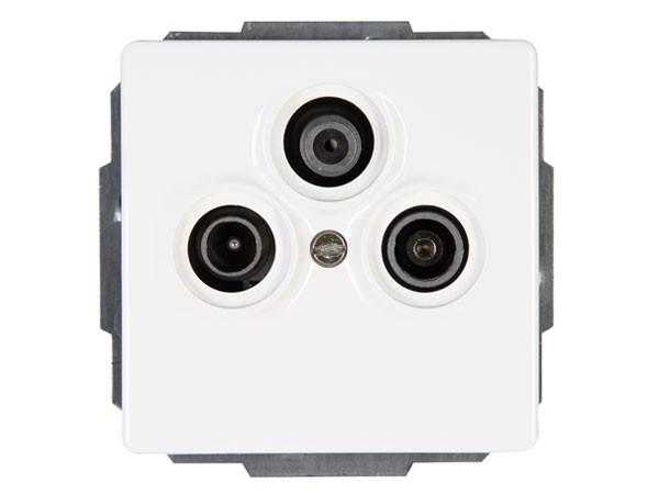 Antennensteckdose TV/RF/SAT rein-weiß Serie Venedig Kopp (924829088)